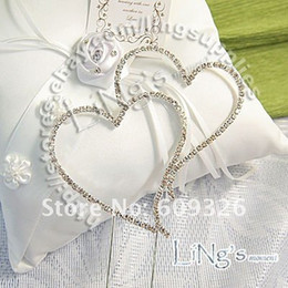 Wholesale Wedding Cake Toppers Diamante Monogram - 1 pieces Monogram Silver Diamante Heart Wedding Cake Topper h03 - FREE SHIPPING