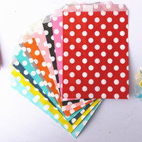 Wholesale Chevron Paper Favor Candy Bags - treat candy bag high quality 250pcs  Lot Party Favor Paper Bags Chevron Polka Dot Stripe Printed Paper flower Bags Bakery Bags