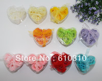Wholesale Discount Soaps - Free shipping Discount High quality multicolor rose Soap flower(3pcs box.24boxes lot) for romantic bath and valentine's gift.