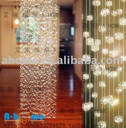 Wholesale Beaded Dividers - 10strands x 2M(height) Crystal Curtain  Wedding Decoration   Room Divider Acrylic Beaded Strands