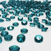 Wholesale Teal Blue Diamond Confetti - Free shipping&500 10mm 4CT Teal Blue Diamond Confetti Wedding Decoration