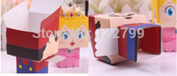 Wholesale Super Mario Candy Boxes - 20pcs Super Mario Princess Wedding Favor Candy Boxes Birthday Party Favour Sweet Holder Box Gifts Cartoon Styles