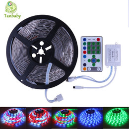 Wholesale Ip Controllers - Tanbaby Horse race led strip 5M SMD5050 54led M DC12V waterproof IP flexible + Led controller chasing dream led decoration light