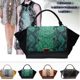 Wholesale Beige Smile Bag - 100% Genuine leather bags for women Handbag snake ears bats cowhide leather bags phantom smile embarrassed bag women famous bags
