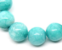 Wholesale-Synthetic Amazonite Halbedelstein runde grüne, 6 mm Durchm, 37cm lang, 2 Stränge (ca. 60pcs / Strand) (B22923)