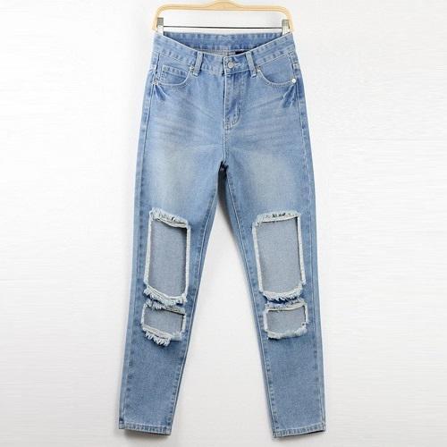 2017 Wide Leg Ripped Jeans Boyfriend Jeans For Women Distressed ...