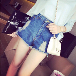 Wholesale Women Match Cargo - Ripped Jeans Direct Selling Sale Button Pockets Cuffs Mid Leggings Women Jeans 2015 Spring Fashion All-match Denim Shorts Moben