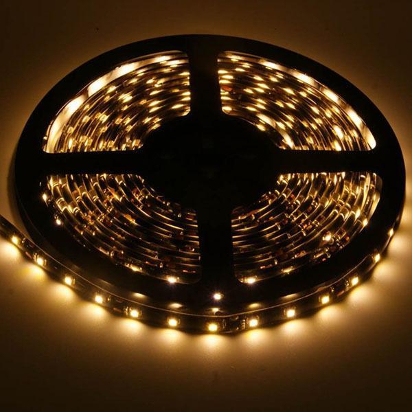 Black PCB 5M Led SMD 3528 60leds/m LED Strip Waterproof Diode Feed Led Tape Lights 12V Flexible fita Led Ribbon Stripe Neon Lamp