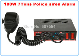 Wholesale Siren Microphone - High quality DC12V,100W Police siren ambulance fire car warning siren alarm 7tones with microphone