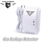 Wholesale Gas Detector For Alarm - Free shipping Kitchen wireless Gas Leakage Detector alarm sensor Emergency alarm for home security alarm systemGL-100A
