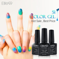 Wholesale Nail Lacquer Color Changing - Wholesale-Elite99 Chameleon Temperature Change Color UV Gel Lacquer Professional Beauty Choices Colored Nail Gel Pick One Color from 51