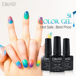 Wholesale Temperature Nail Gel - Wholesale-Elite99 Chameleon Temperature Change Color UV Gel Lacquer Professional Beauty Choices Colored Nail Gel Pick One Color from 51