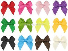 "Wholesale Animal Grosgrain Ribbon - 100pcs 2"" Grosgrain Ribbon mini bow Cheer Bows Hair Cheerleading without clip Headwear hairbow headdress"