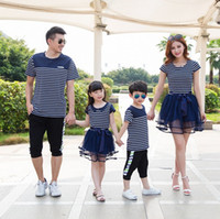 Family Clothes Matching Mother Daughter Girl Fashion Striped...