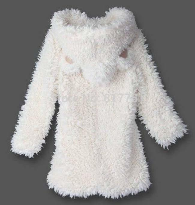 fc2340618b2 Women Winter Coat Fake Lamb Fur Jacket Long Style Hooded Outerwear ...