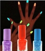 Wholesale Glow Glitter Nail Polish - Feshion esmalte uv gel nail polish glow in the dark luminous fluorescent paint nail polish set varnish glitter lacquer