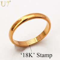 ingrosso timbro dell'oro reale dei monili 18k-Anelli d'oro con
