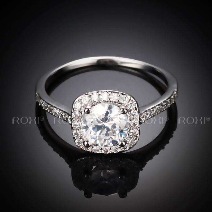 Rings For Women Roxi Wedding Ring Big Crystal Jewelry Engagement
