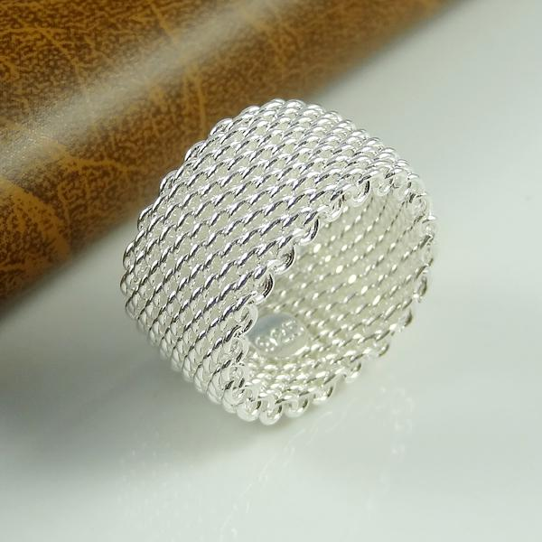 Anel Para Mulheres 925 sterling silver jewelry Women Finger Net Rings Men's 2015 Classic Silver Ring JZ5032