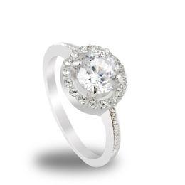 Loja de ouro 18k on-line-2 / Cor quente Novo Design de Moda Nobre Banhado 18 k Real ouro Zircão Anéis De Cristal jóias! Alta qualidade mulheres jóias cRYSTAL sHOP