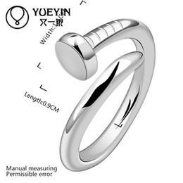 Wholesale Finger Price - R591 925 Silver Stamp new design finger ring Nail RingWomen Men Free Shipping Wholesale Price anneau   anel   anneau   anillo