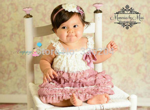 cake smash outfit girl cheap dusty ivory petti lace dress birthday 2327