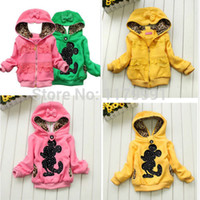 Wholesale Cute Minnie Mouse Costume - Cute Toddler Girl Kids Minnie Mouse AB Double Wear Jacket Hoodies Coat Costume