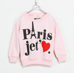 Wholesale Love Pink Clothing Sweaters - 2015 new autumn children's clothing boys and girls sweater coat,kids casual letter Love Pattern sweater Pullover,free shipping