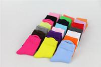 12-летние детские носки оптовых-(12 пар/лот)новый прибыл! 4-6-летний ребенок сплошной цвет 100% хлопок детский носок