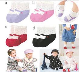 Wholesale Baby Ballet Socks - 4Pairs lot New Baby Mini cotton Footgear Kids Non-Slip Socks Children Socks Gifts boy's girl's Ballet socks free Shipping