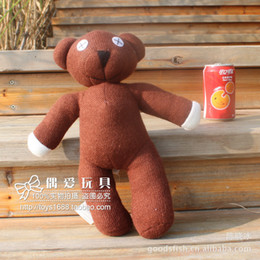 "Wholesale Doll Beans - Wholesale-Free Shipping Mr Bean Teddy Bear Animal Stuffed Plush Toy,9"" Brown Figure Doll Child Christmas Gift Toys Wholesale &"