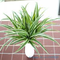 ingrosso lascia le piante-1 PZ Artificiale Finto Plastica Foglie Verdi Erba Pianta Casa Casa Decorazione di Nozze Regalo F225