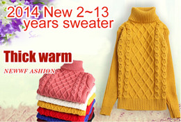 Wholesale Wool Sweaters For Kids - Autumn Winter Children's sweater girls turtleneck boys computer knitted sweaters for kids pullover dress cardigan clothes