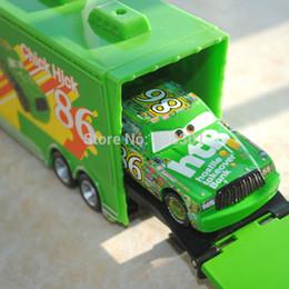 Wholesale Cars Htb 86 - 2pcs pack 100% Original 1 55 Scale Pixar Cars 2 Toys Chicks Hicks And #86 HTB Hauler Diecast Metal Car Toy For Children