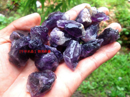 Wholesale Raw Stone Jewelry - Natural Amethyst Crystal Stone Ore Energy Stone Raw Mineral Specimens Jewelry Making Wholesale 10pcs lot