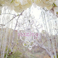 Wholesale Curtain Bead Door Divider - 99ft   30m Glass Crystal Beads Curtain Window Room Divider Door Curtain Passage Wedding Backdrop