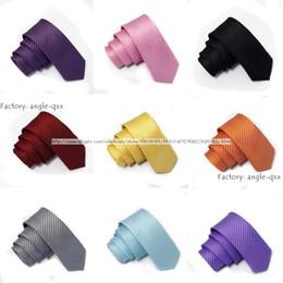 Wholesale Yellow Skinny Tie - slim tie stripes neck tie skinny ties 100% polyester ties Stylish Necktie men ties men's woven