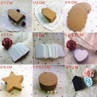 Wholesale Min Order Pcs - Min Order is $5,(1 Lot=50 Pcs) DIY Scrapbooking Paper Kraft Blank Hang Tags Crafts Wedding Postcards Gift Tag Label Card
