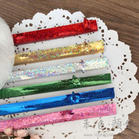 (210 pcs / lot) Bright Point couleur brillant Star Glass Paper Souhaitant étoile Lucky Stars Matériaux de papier