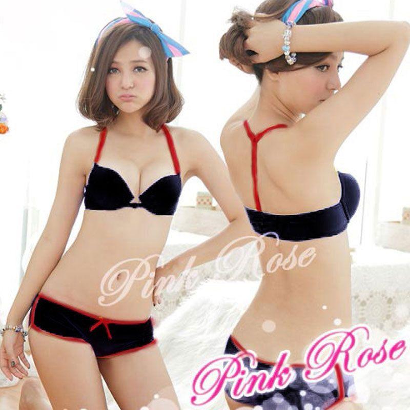 459759184a New Fashion Japanese Women Underwear Bra Set Anterior Cingulate Sexy ...