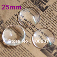 Wholesale Cabochon Transparent - Wholesale-100pcs lot, Good Quality 25mm Domed Round Transparent Clear Magnifying Glass Cabochon