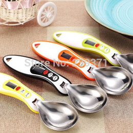 Wholesale Household Kitchen Scale - Big Sale! Digital spoon Scale Electronic Measuring Household Jug Scale with LCD Display & Temp Measurement 3 Colors Available