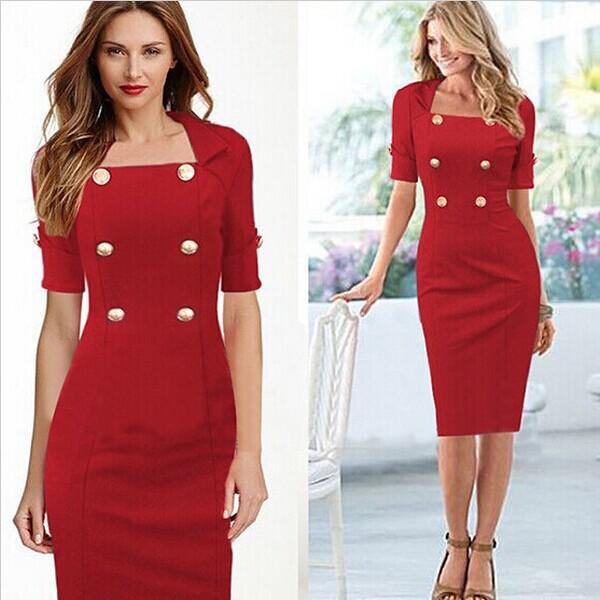 Best Newest High End Design Lady Elegant Red Dress Suit Half ...