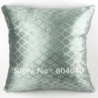 "Wholesale Diamond Cushion Covers - Handmade Cotton Polyester Throw Pillow Case Decor Cushion Cover Square 18""   45cm Shining Diamond Sequins Silver Gray PJ10"
