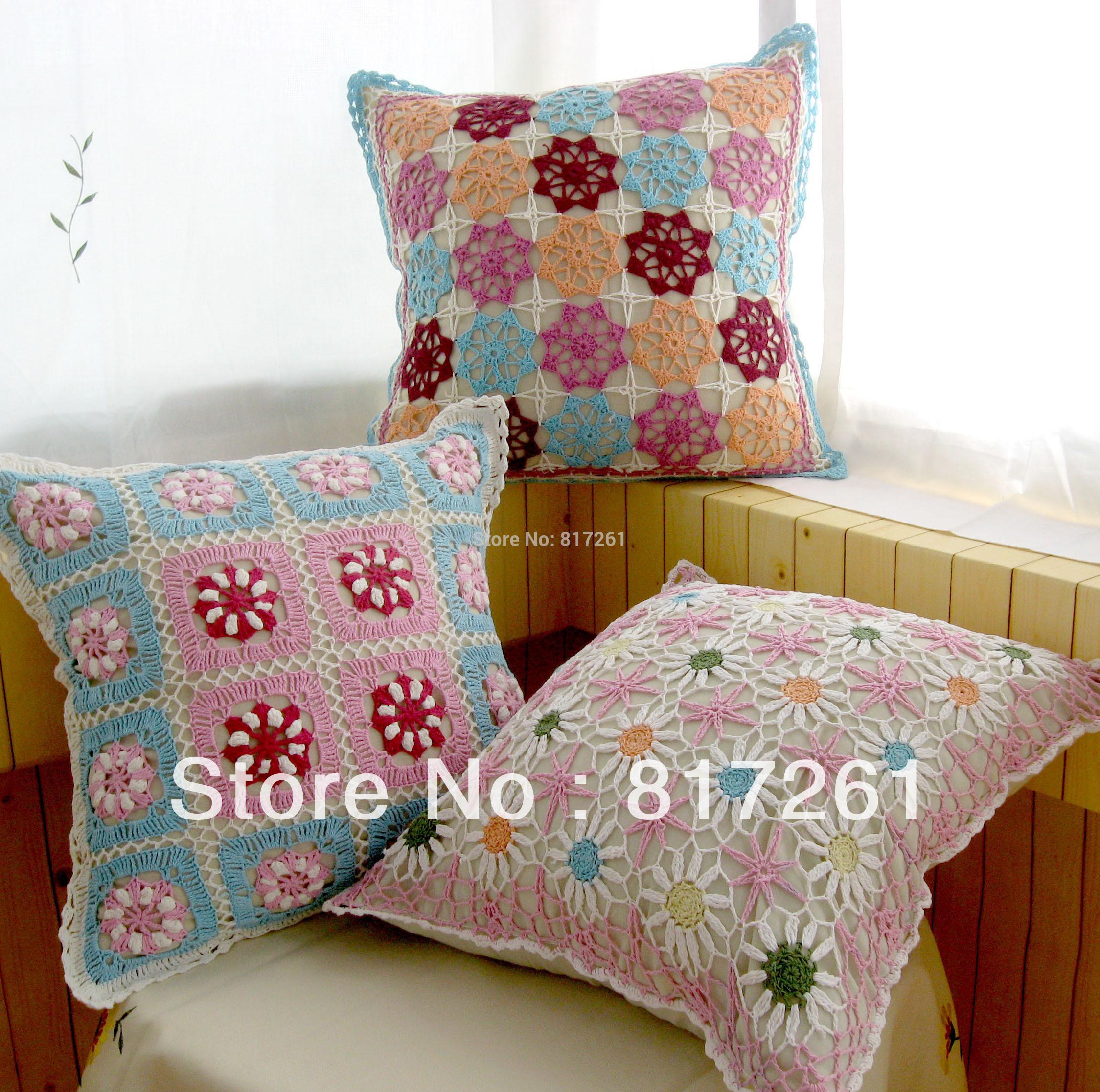 Cotton Crochet Lace Cushion Cover Pillow Case Zakka Fashion Nordic