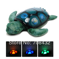 Wholesale Sea Turtle Night - Free Shipping 2015Yr Sea Turtle Lamp Starry Sky Projector Lamps Baby Sleep Night Light New