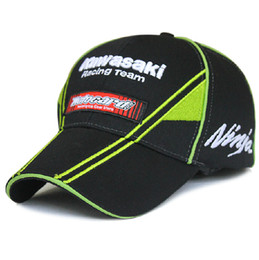 Wholesale Kawasaki Cap - Wholesale-2016 Newest F1 MOTO GP DEKTON Sport Cap F1 Car Motocycle Racing Kawasaki Ninja 76 Embroidery Baseball Cap Hat