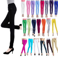 Wholesale High Waist Boot Cut Jeans - Fashion New Womens Ladies Slim Skinny Jeans Trousers High Waist Pencil Pants 20 Colors