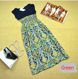 Wholesale Casual Pregnancy Style - summer style dress clothes for pregnant women Girl Maternity Clothing pregnancy Chiffon flower printed dresses Plus size Dress