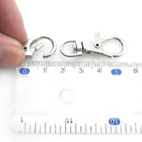 Wholesale Iron Lobster - 60pcs lot Wholesale Fashion Swivel Lobster Clasp Rhodium Plated Iron Fit Keyring Rings Key Chain 38mm 160311